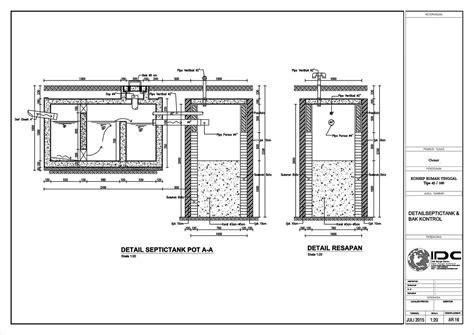 gambar kerja rumah tinggal type  jasa desain rumah