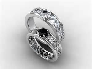 Black diamond wedding band mens diamond ring filigree black diamond