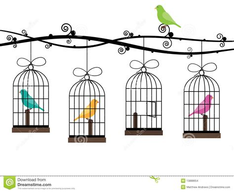 Bird Cage Stock Images Image 24110704 Bird Cages Stock Vector Image Of Colourful Claws