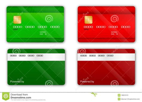 Credit Card Template Gold Card Bank Stock Photos Image 18651513