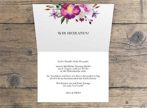 Hochzeitseinladung Klappkarte by Quot Quot Hochzeitseinladung Klappkarte Paper