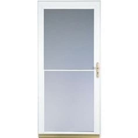 pella retractable screen door pella 30 in x 81 in white helena mid view safety storm