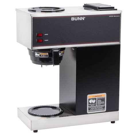 Bunn 33200.0000 VPR 12 Cup Pourover Coffee Brewer with 2 Warmers   120V