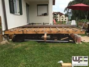 punktfundament terrasse bilder wpc aluminium alu unterkonstruktion f 252 r