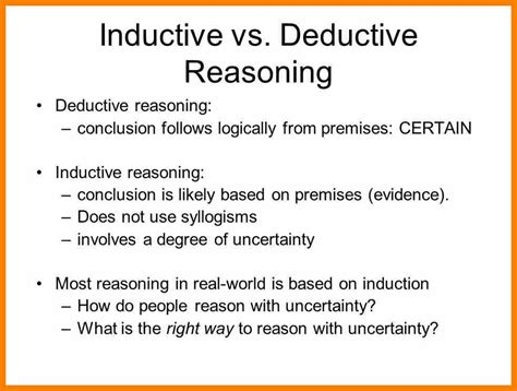 Inductive Essays by Inductive Reasoning Essay Inductive Essay Co Deductive And Inductive Writing Two Traditional