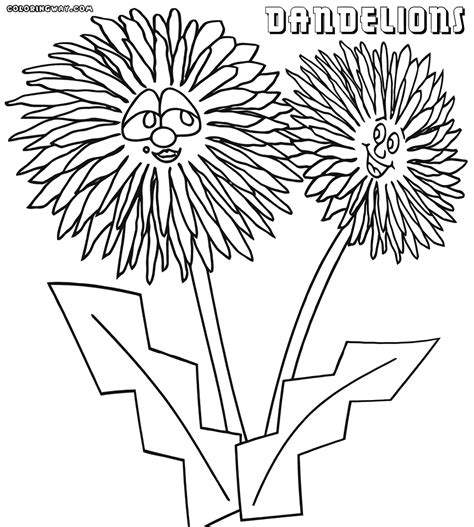 dandelion coloring pages coloring pages to download and