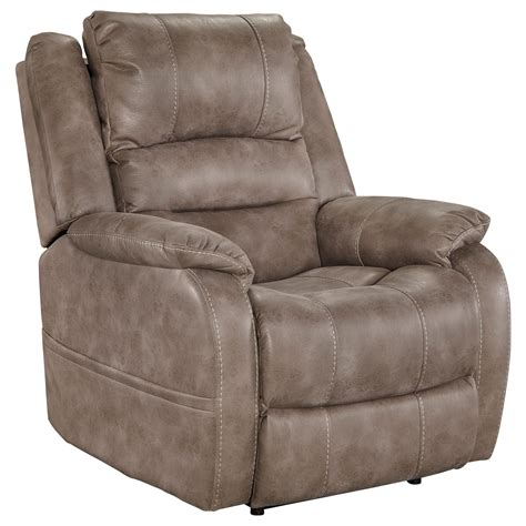Adjustable Recliner by Signature Design By Barling Faux Leather Power