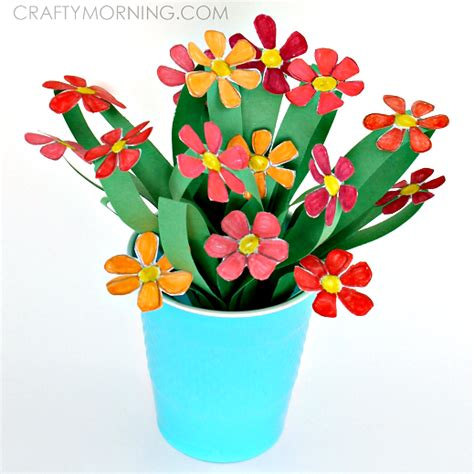 Paper Flower Bouquet Craft - 3d paper flower bouquet craft for crafty morning