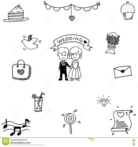 wedding doodle vector free doodle vector wedding stock vector image 72733767