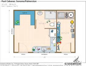 Pool Cabana Floor Plans by Halbc