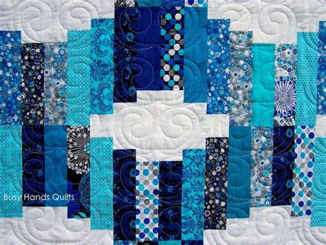 Aqua Blue Quilt Busy Quilts Jelly Roll Waves Quilt In Blue And