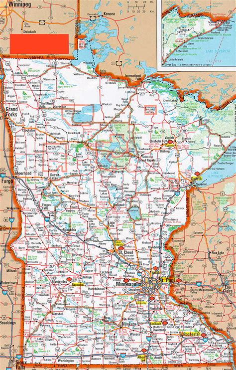 map of mn highways detailed minnesota road map