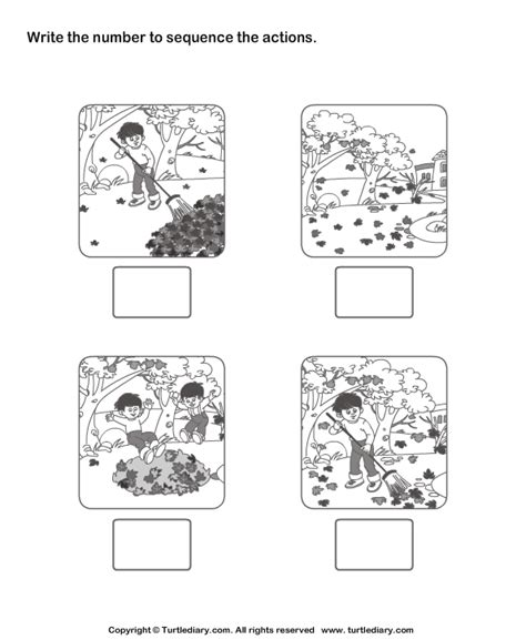 Sequencing Worksheets Kindergarten by Picture Sequence 6 Worksheet Turtlediary