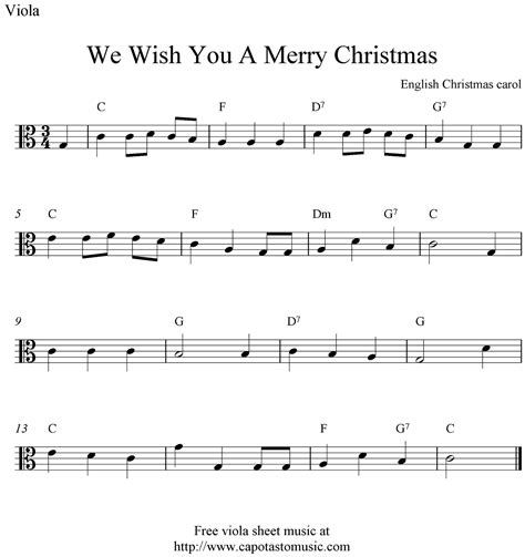 free printable sheet music viola free easy christmas viola sheet music we wish you a merry