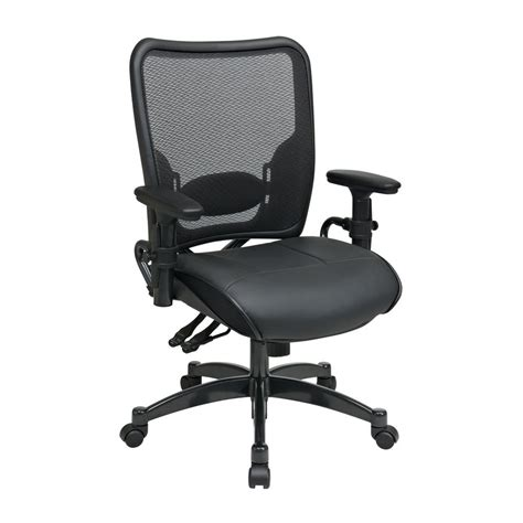 Office Chairs Lowes Shop Office Space Black Traditional Task Chair At