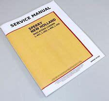 New Holland Skid Steer Repair Manual Ebay