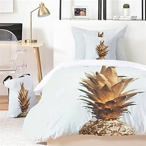 deny designs the gold pineapple comforter set bed bath