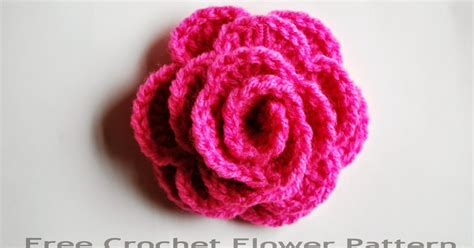 flower pattern crochet for beginners free crochet flower pattern how to crochet a rose free