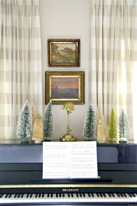 piano  window  front  curtains christmas decorations christmas greenery merry