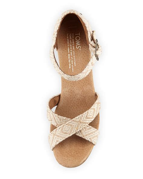 toms strappy wedge sandal toms woven strappy wedge sandal
