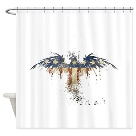 eagle shower curtain americana eagle shower curtain by jtporter