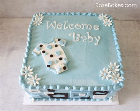 Baby Shower Cakes For A by Mod Onesie Baby Shower Cake And Blue Apples Bakes