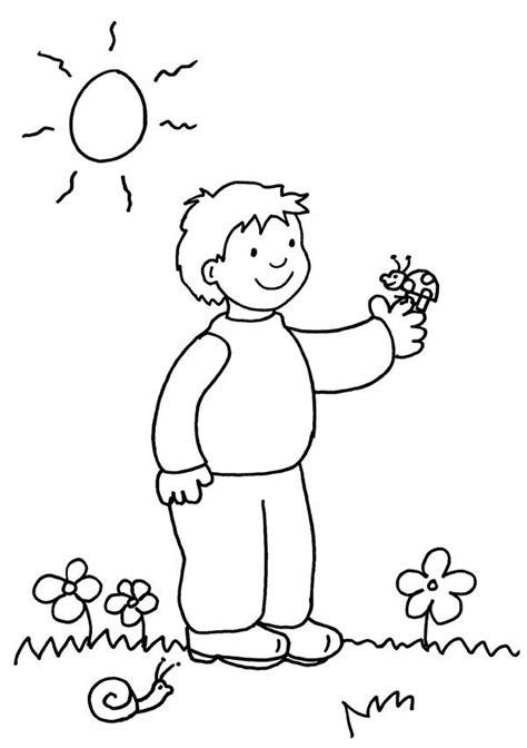 imagenes para colorear niños de kinder ni 241 o con mariquita dibujo para colorear e imprimir