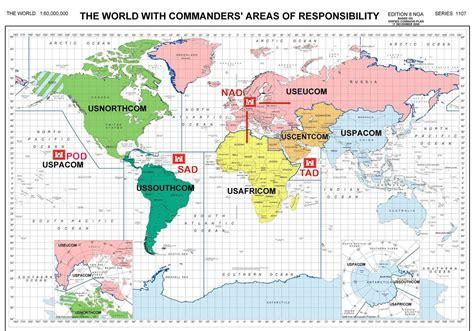 combatant command map combatant command map