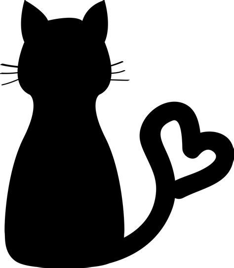 clipart cat clipart cat silhouette pencil and in color