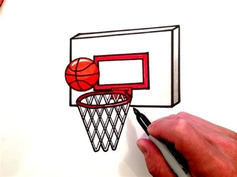 How To Make A Basketball Net Out Of Paper - how to draw a basketball and hoop
