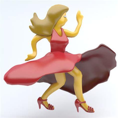 salsa dancing emoji dancing woman emoji 3d asset cgtrader