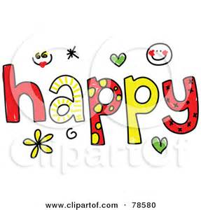 word happy clipart