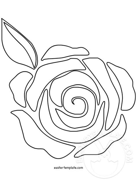 rose flower template coloring page easter template