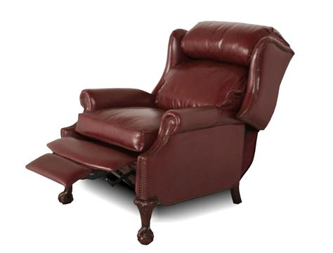 wing recliner chair wingback leather recliner