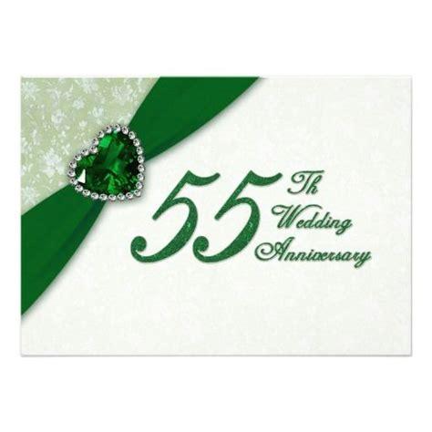Emerald Wedding Anniversary Invitations