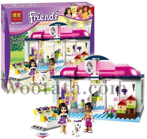 Mainan Salon Anak mainan bongkar pasang anak block bela friends 10171 heartlake pet salon mainan bongkar pasang