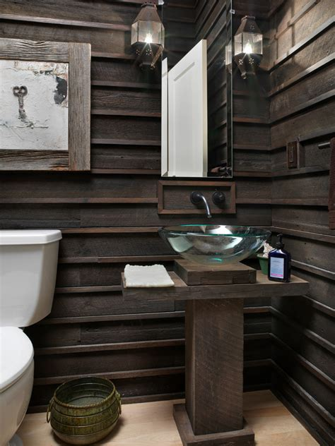 wood walls in bathroom innovative modern wainscoting panels in powder room rustic