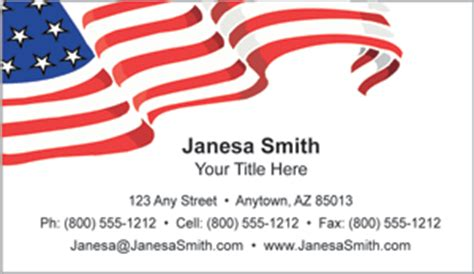 patriotic business cards free templates patriotic business cards candidate information cards
