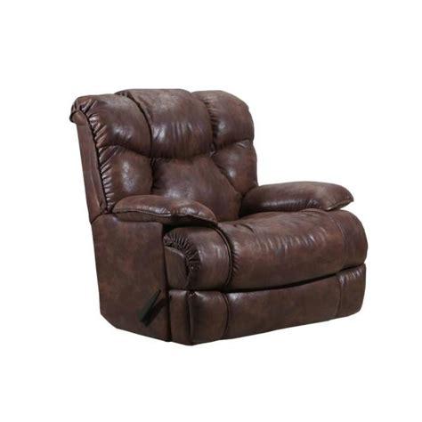 lane kane saddle medium brown leather  rocker recliner
