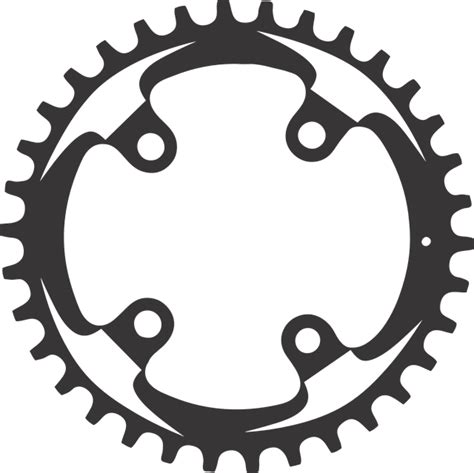 Clip Sepeda Bmx Black free vector graphic mountain bike chainring chain