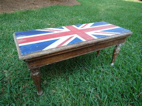 hand painted benches vintage hand painted bench stool with union jack vintage finds painted benches