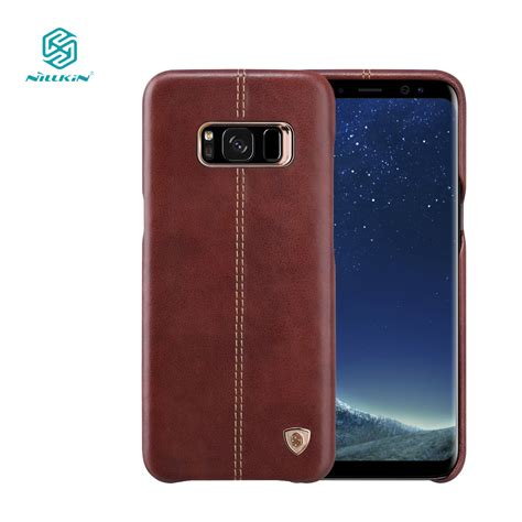 Nillkin Englon Leather Cover Samsung Galaxy S8 S8 Plus nillkin englon phone bags for samsung galaxy s8 luxury pu leather vintage back cover s8 for