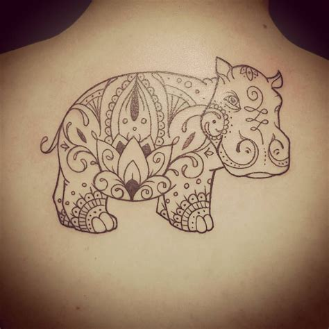 hippo tattoo make it a laughing hippo reminders of