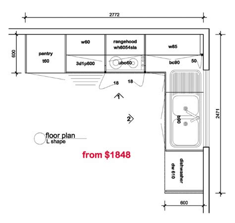 floor l l shaped kitchen floor plans tv kitchen floor plans