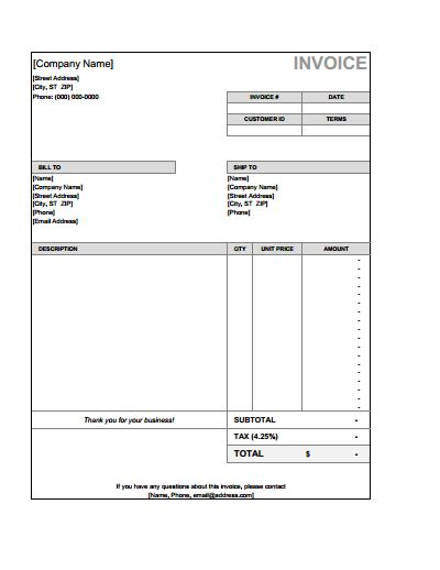 Billing Invoice Template Download Create Edit Fill And Print Wondershare Pdfelement Billing Invoice Template