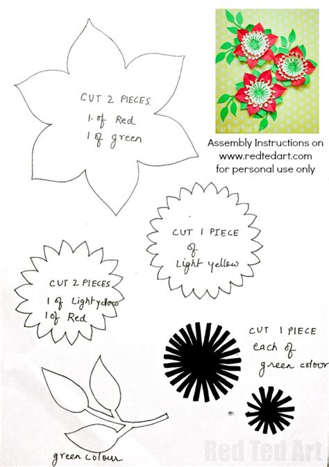 diy flower template pretty paper flowers diy including template ted