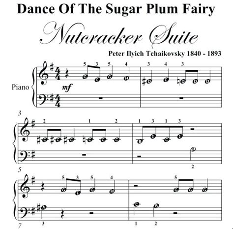 tutorial dance of the sugar plum fairy piano sheet music with letters doodle staff piano sheet