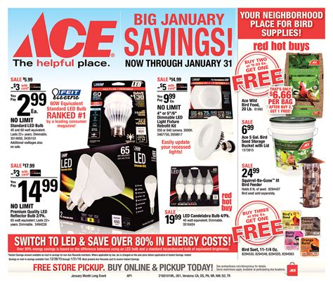 ace hardware lung outer banks ace september red hot buys