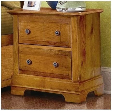 Honey Oak Nightstand 2 Drawer Nightstand In Oak Finish Traditional Nightstands And Bedside Tables