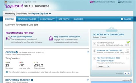 Free Email Lookup Yahoo Yahoo Offering Small Businesses A Marketing Dashboard State Of Digital